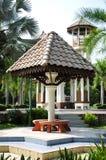 Pequeña cabaña en los Anis de Taman Tengku, Kelantan Imagenes de archivo
