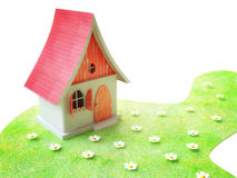 Pequeña cabaña en verano stock de ilustración