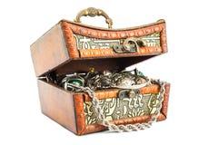 Pequeña caja con plata Imagen de archivo