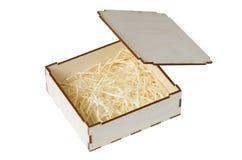 Pequeña caja de madera Fotografía de archivo
