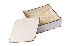 Pequeña caja de madera Imagenes de archivo