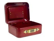 Pequeña caja roja. Foto de archivo