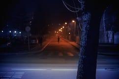 Pequeña calle balcánica de la ciudad Foto de archivo