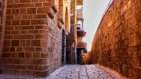 Pequeña calle de Jaffa viejo Fotos de archivo