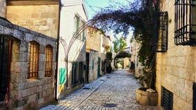 Pequeña calle de Jerusalén vieja foto de archivo libre de regalías