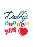 Pequeña camiseta del amor de Daddys Imagen de archivo