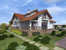 Pequeña casa acogedora Foto de archivo libre de regalías