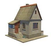 Pequeña casa de campo con un pórtico Foto de archivo libre de regalías