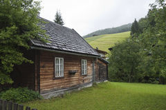 Pequeña casa de madera Fotografía de archivo libre de regalías