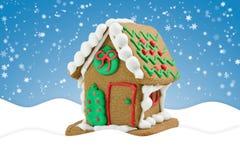 Pequeña casa de pan de jengibre linda Fotografía de archivo libre de regalías