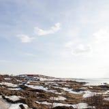 Pequeña casa en Islandia del norte foto de archivo libre de regalías