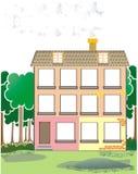 Pequeña casa en madera Imagenes de archivo