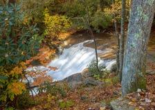 Pequeña cascada en el bosque del Estado de Pisgah Foto de archivo libre de regalías