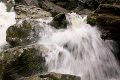 Pequeña cascada en la cama de río 03 foto de archivo