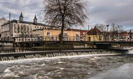Pequeña cascada en Odense jpg Imagen de archivo