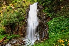 Pequeña cascada en Val di Sole fotografía de archivo libre de regalías