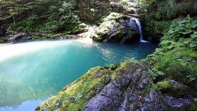 Pequeña cascada Zeleni vir almacen de metraje de vídeo