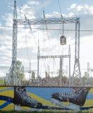 Pequeña central eléctrica Foto de archivo libre de regalías