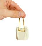 Pequeña cesta del regalo foto de archivo libre de regalías