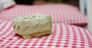 Pequeña cesta tejida Imagen de archivo libre de regalías