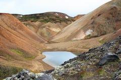 Pequeña charca glacial natural foto de archivo libre de regalías
