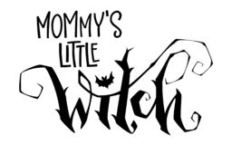 Pequeña cita de la bruja de la mamá Frase exhausta de las letras del estilo de la escritura de la mano moderna libre illustration