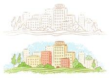 Pequeña ciudad Imágenes de archivo libres de regalías