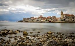 Pequeña ciudad croata Umag Imagen de archivo libre de regalías