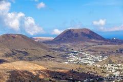 Pequeña ciudad de Haria en Lanzarote Fotografía de archivo libre de regalías