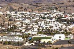 Pequeña ciudad de Haria en Lanzarote Foto de archivo libre de regalías