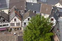 Pequeña ciudad de la aldea alemana Fotografía de archivo libre de regalías