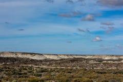 Pequeña ciudad de la Patagonia del madryn de Puerto Imagenes de archivo