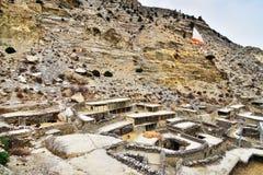 Pequeña ciudad de Marpha en un área más baja del mustango Fotografía de archivo