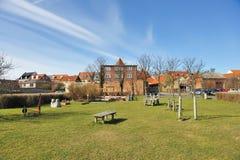 Pequeña ciudad en Dinamarca Fotos de archivo libres de regalías