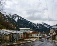 Pequeña ciudad en el valle de Naran, Paquistán Imagen de archivo libre de regalías