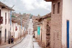 Pequeña ciudad en el valle sagrado imagen de archivo libre de regalías