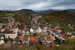 Pequeña ciudad en Europa, Stramberk Imagenes de archivo