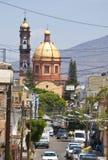 Pequeña ciudad México Fotografía de archivo