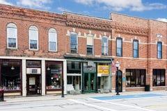 Pequeña ciudad Main Street Imágenes de archivo libres de regalías