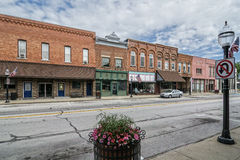 Pequeña ciudad Main Street Imagenes de archivo
