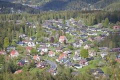 Pequeña ciudad sueca típica Fotografía de archivo libre de regalías