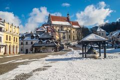 Pequeña ciudad vieja Kazimierz Dolny del renacimiento Fotografía de archivo libre de regalías