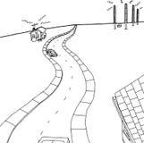 Pequeña ciudad y antenas grandes