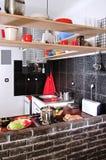 Pequeña cocina Foto de archivo