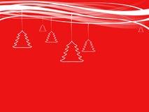 Pequeña decoración de los árboles de navidad con las cintas Fotos de archivo