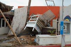 Pequeña familia dañada restorant Foto de archivo libre de regalías