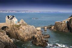 Pequeña fortaleza en la isla en la costa costa de Francia, fuerte Berthaume, Br Fotografía de archivo