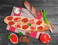Pequeña foto de la comida de los bocadillos Foto de archivo libre de regalías