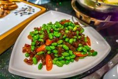 Pequeña haba china de la soja de la salchicha fotos de archivo libres de regalías