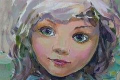Pequeña hada, pintando Fotografía de archivo libre de regalías